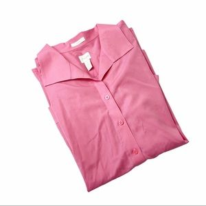 Like new! Chico's size 3 pink button down
